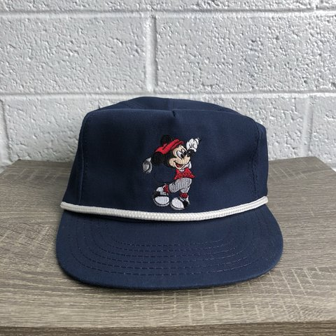 Vintage Disney Mickey Mouse Golf Hat Good condition - Depop 39112543fa1