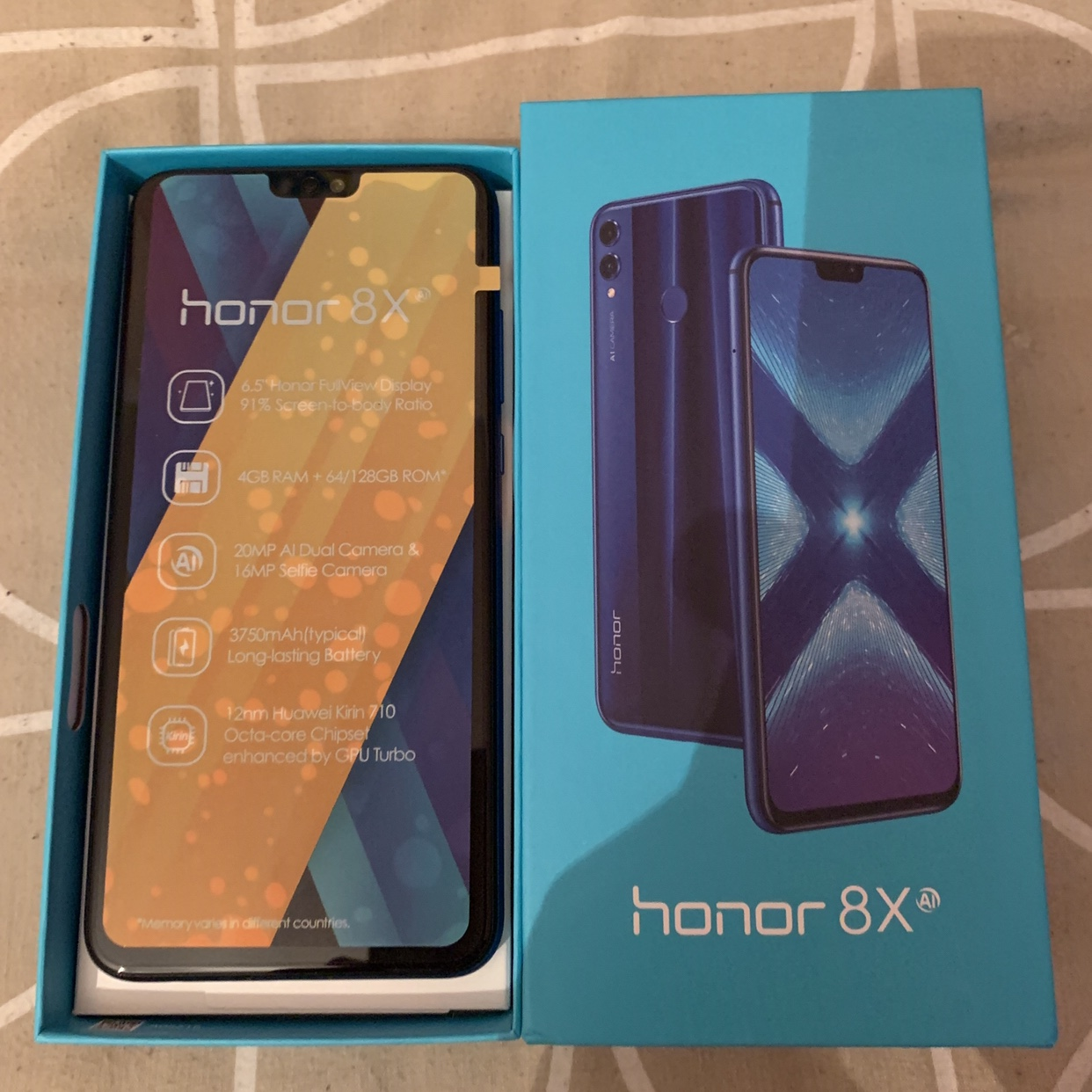 Huawei Honor 8X Blue Android Phone  - (Selling for    - Depop