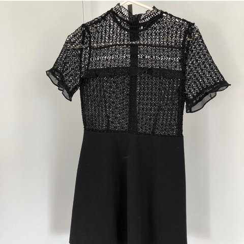 8ef339ddd2440 Zara S, Short Black Lace Dress. It is super cute on and can - Depop