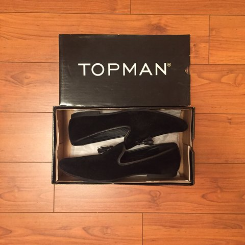 3ceb511a677 TOPMAN Tassel Loafer in Black Faux Suede. Fairly used. Size - Depop