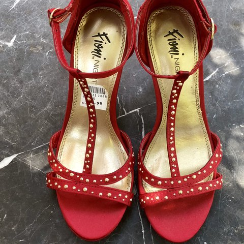 be21ff0ce30 Red Studded open toe high heels by Fioni Nights. Brand new - Depop