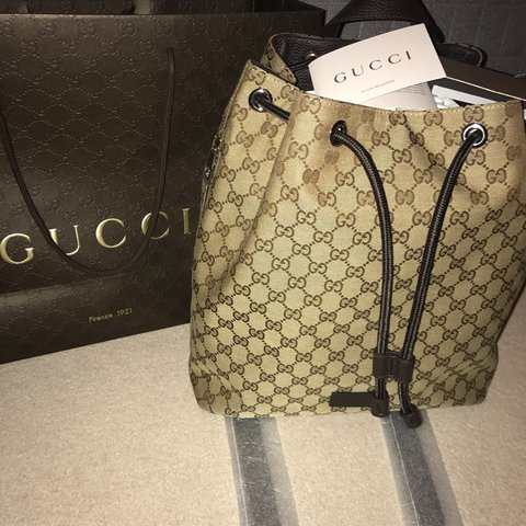 ce92d2063aca @ktvilla92. 2 years ago. United Kingdom. Gucci backpack. Brand new with tags  and all packaging still attached.
