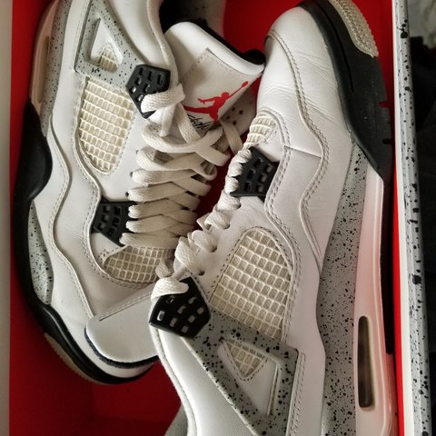 8daad4960ee Nike Air Jordan retro Cement 4. Size 8. Bought used but only - Depop