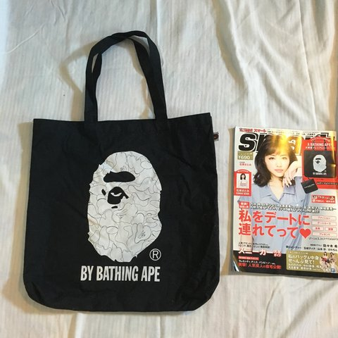 7fab518cd165 @guccigoth. 4 months ago. Sunnyvale, United States. Bape A Bathing Ape  promotional tote bag 2015 in black. Does not come with magazine ...