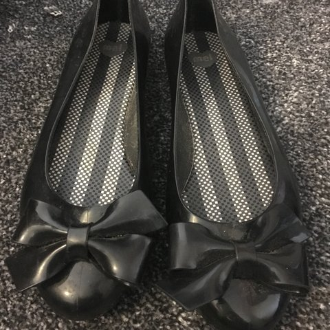91974319a Black dolly shoes by Mel .,worn once in excellent condition - Depop