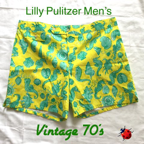4542705d5bd6b0 @pickedinsavannah. last year. Savannah, United States. Vintage 70's Lilly  Pulitzer MENS Swim ...