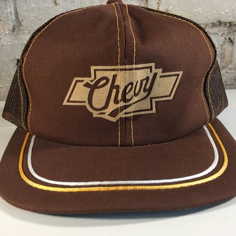 45c97093 @outfittedmbs. 9 months ago. Concord, United States. Vintage Chevy Trucker  Hat 🔥 Snapback Soft Suede Logo