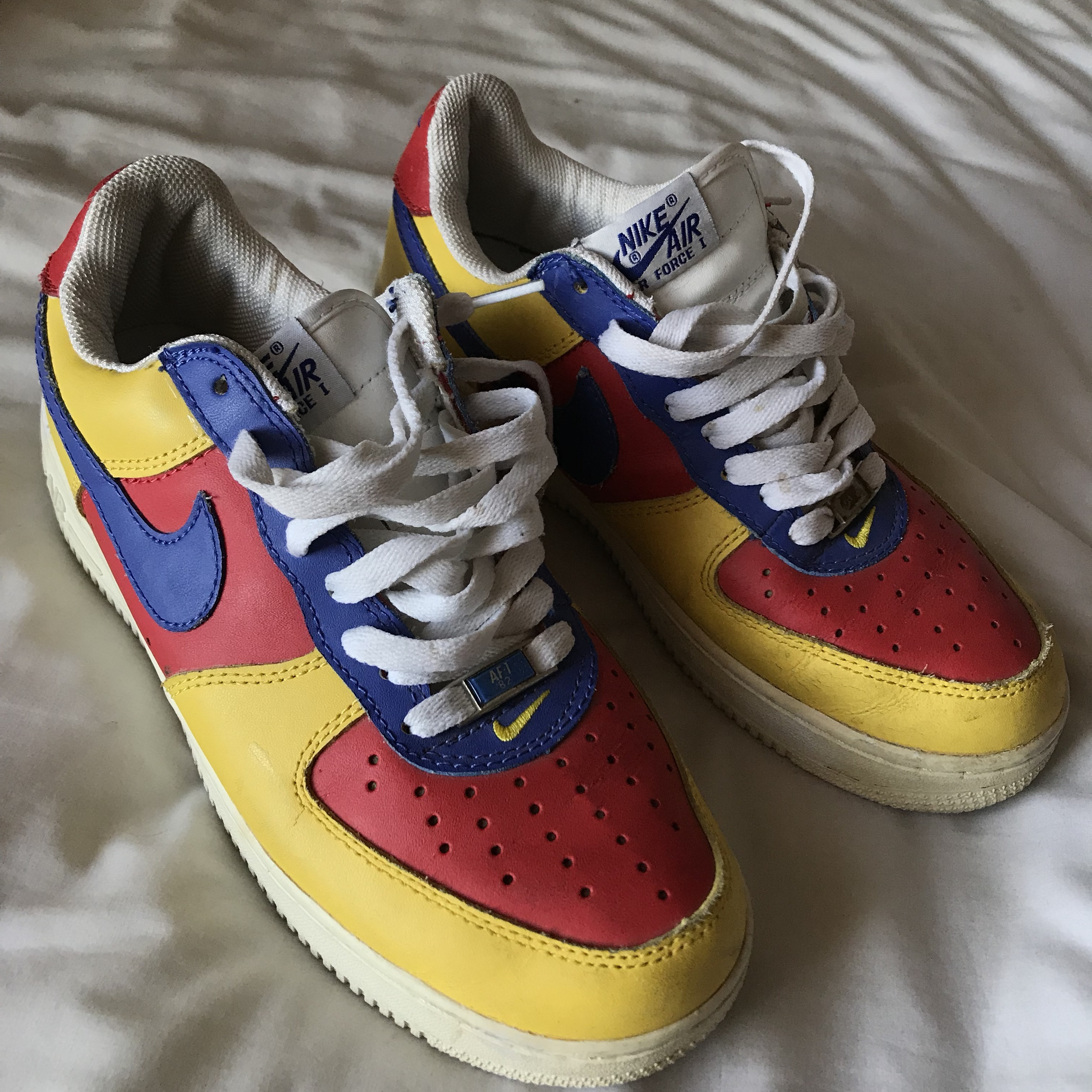 Nike Air Force 1 '82 Blue & Red shoes