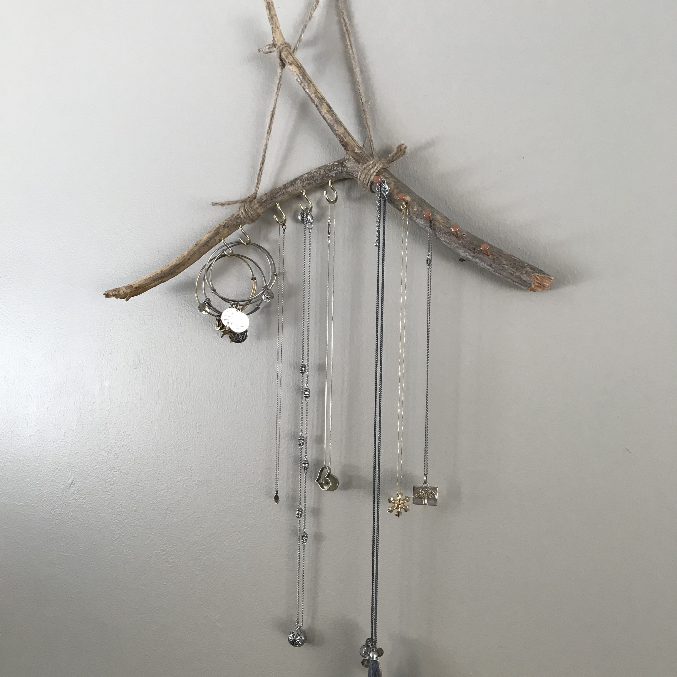 Jewelry Holder Made From A Tree Branch Very Earthy Depop