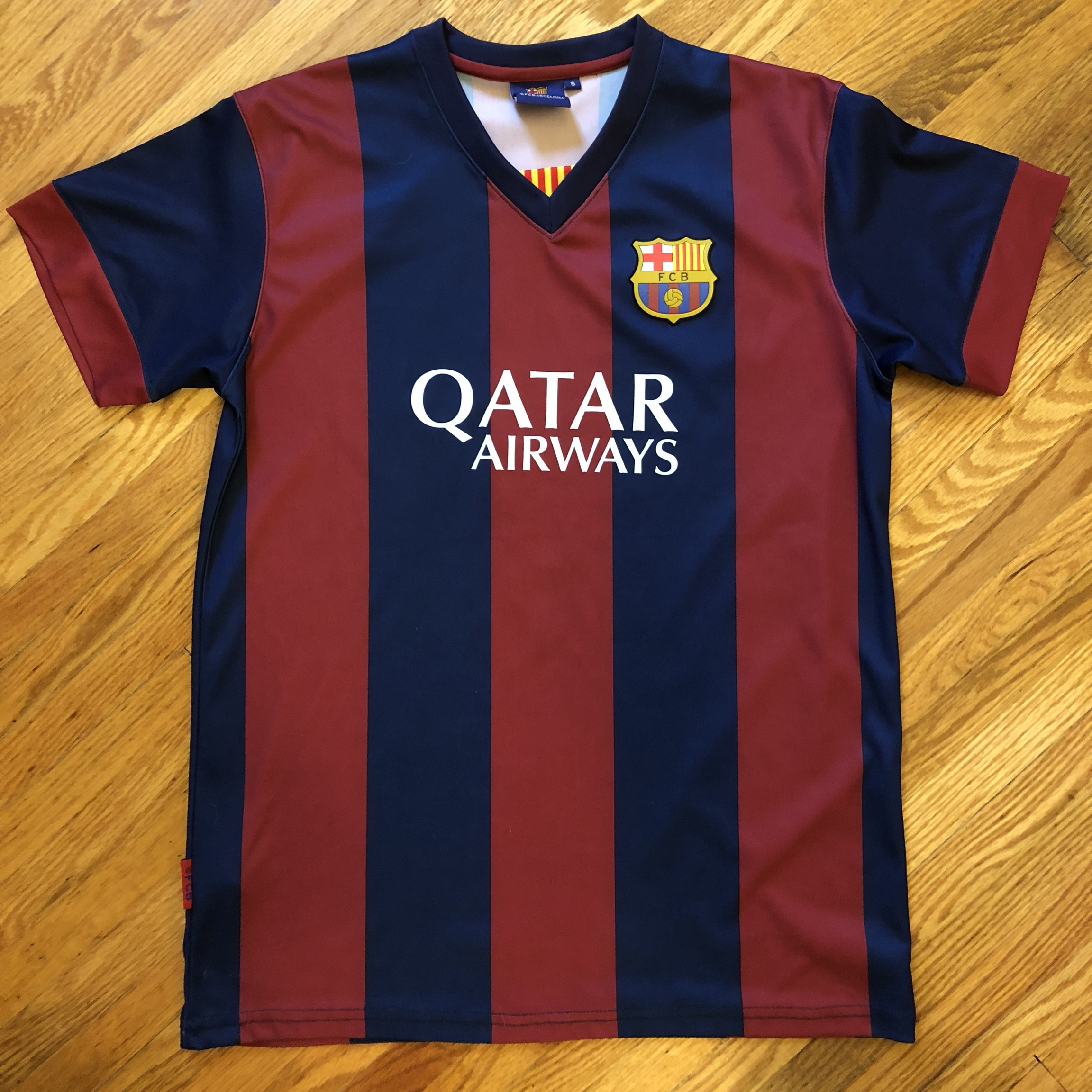 Messi Fc Barcelona Qatar Airways Jersey Only Worn Depop