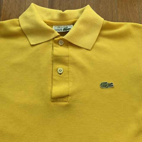 1399d180 @tightwad_. 2 days ago. Berkeley, United States. Vintage Chemise Lacoste  yellow polo shirt. Made in France.