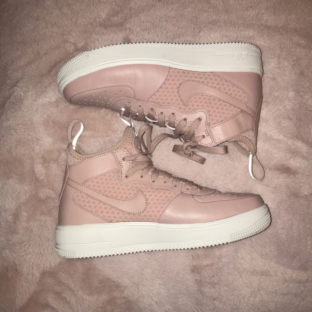 NIKE air rose gold high tops Only worn