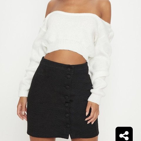 6e6a55236 @maria_serrano. last month. Oxford, United Kingdom. PLT Black tweed mini  skirt. Never been worn. New with tags