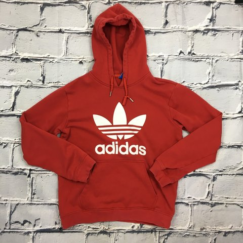 adidas hoodie red white
