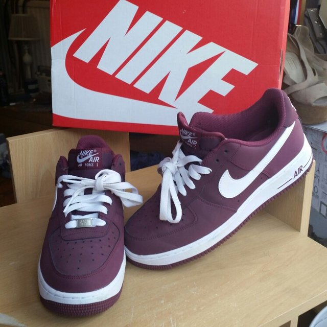 finest selection f36ca 25fa2  apriledgarx. 5 years ago. Reading, UK. Burgundy Nike Air Force 1. Size ...