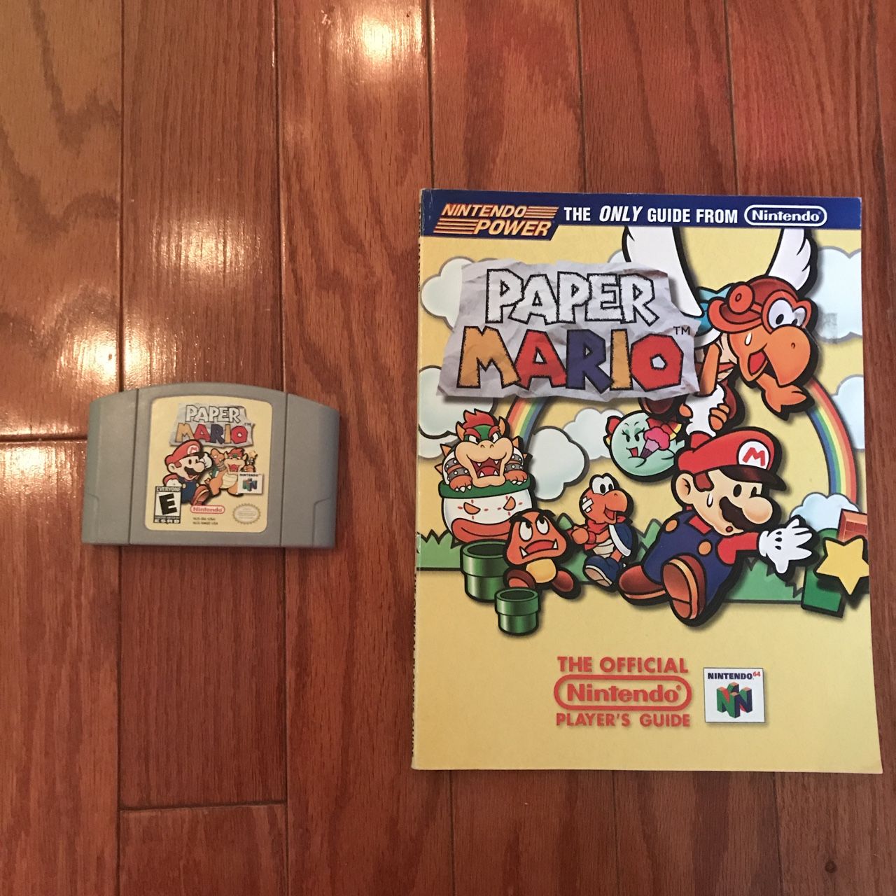 'Paper Mario' for N64 (w/ Official Nintendo Player's    - Depop