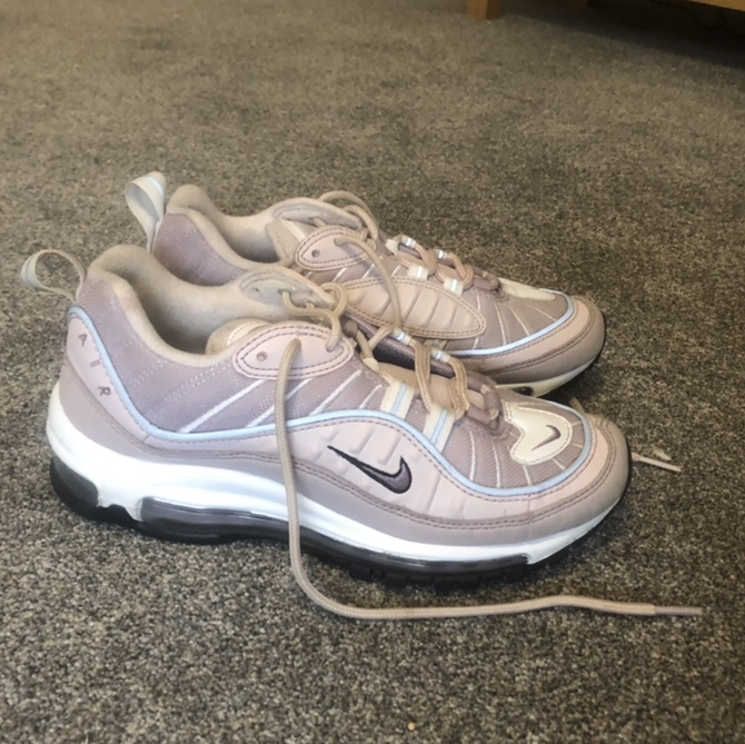 size 40 fc554 d69cd nike air max 98 baby pink barely rose reflective... - Depop