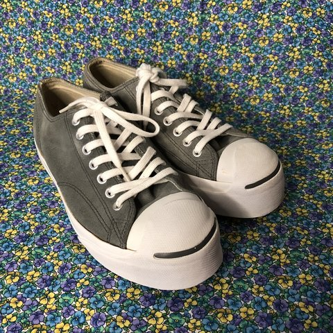 9caa2e81135 Vintage grey Converse platforms. I m good shape and have on - Depop