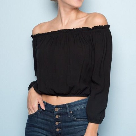 03fe0669c7760 Brandy Melville Maura Top classic off the shoulder top from - Depop