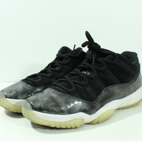 415d1715c7e 100% Authentic Nike Air Jordan Retro Low Baron XI 11 Black , - Depop