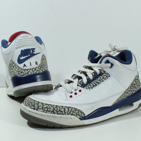 daacd8d383ea 100% Authentic Nike Air Jordan Retro OG True Blue III 3