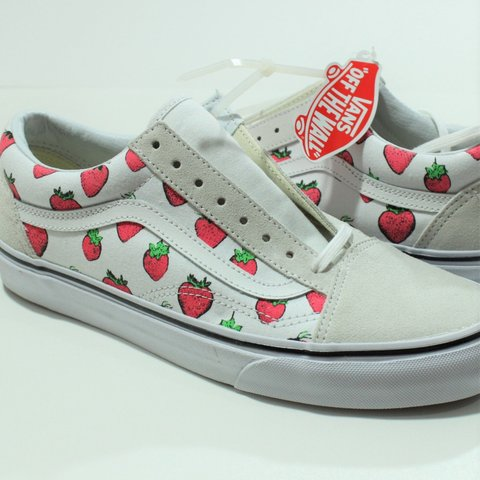 92e9603745 100% Authentic Vans Old Skool Strawberries Strawberry New Sz - Depop