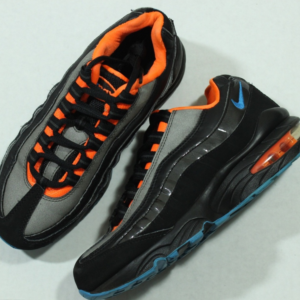 Nike Air Max 95 Black Total Orange Blue Depop