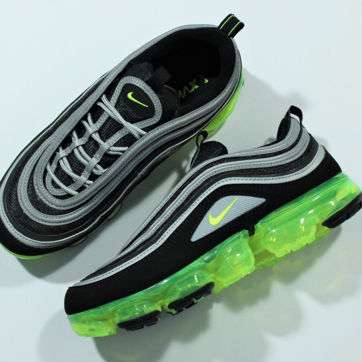 "wholesale dealer 86767 606ef Authentic Nike Air VaporMax 97 ""Neon"" Japan... - Depop"