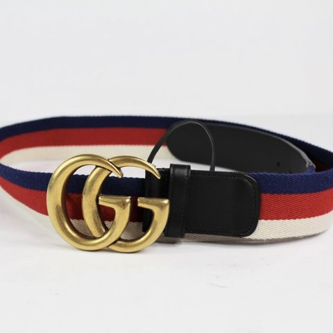 1586f5c0c @producthasbeenarkived. 8 days ago. Houston, United States. Authentic Gucci  409416-HE2MT Gold Buckle Double GG Mens Belt Size 100 / 40