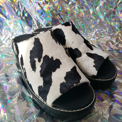 f9fec0bfc132 @bitebackvntg. 7 months ago. Jamestown, Russell County, United States. Cow  print slip on platforms love these super cute on everyone loves ...
