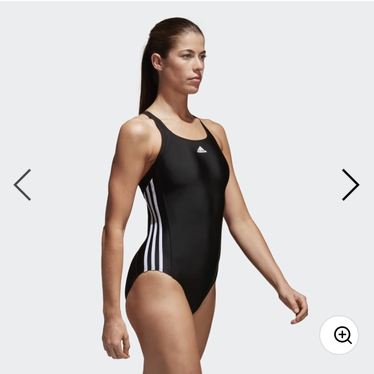 adidas 3 stripe swimming costume