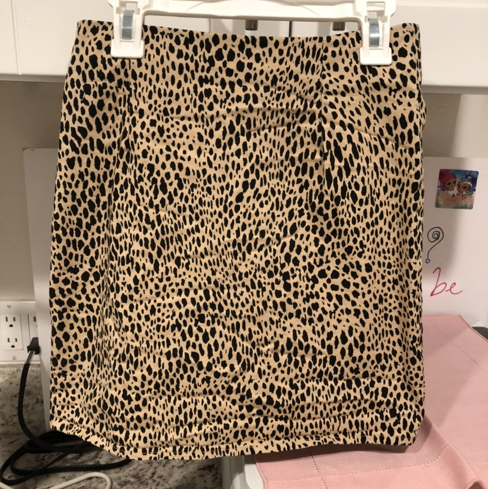 Brandy Melville Nwot Phoebe Cheetah Skirt    Never by Depop