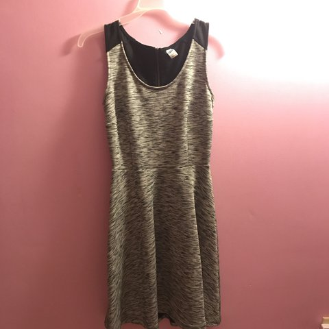 aadc0ae92f8 XS Gray Black old navy tank dress. Worn once and fairly new. - Depop
