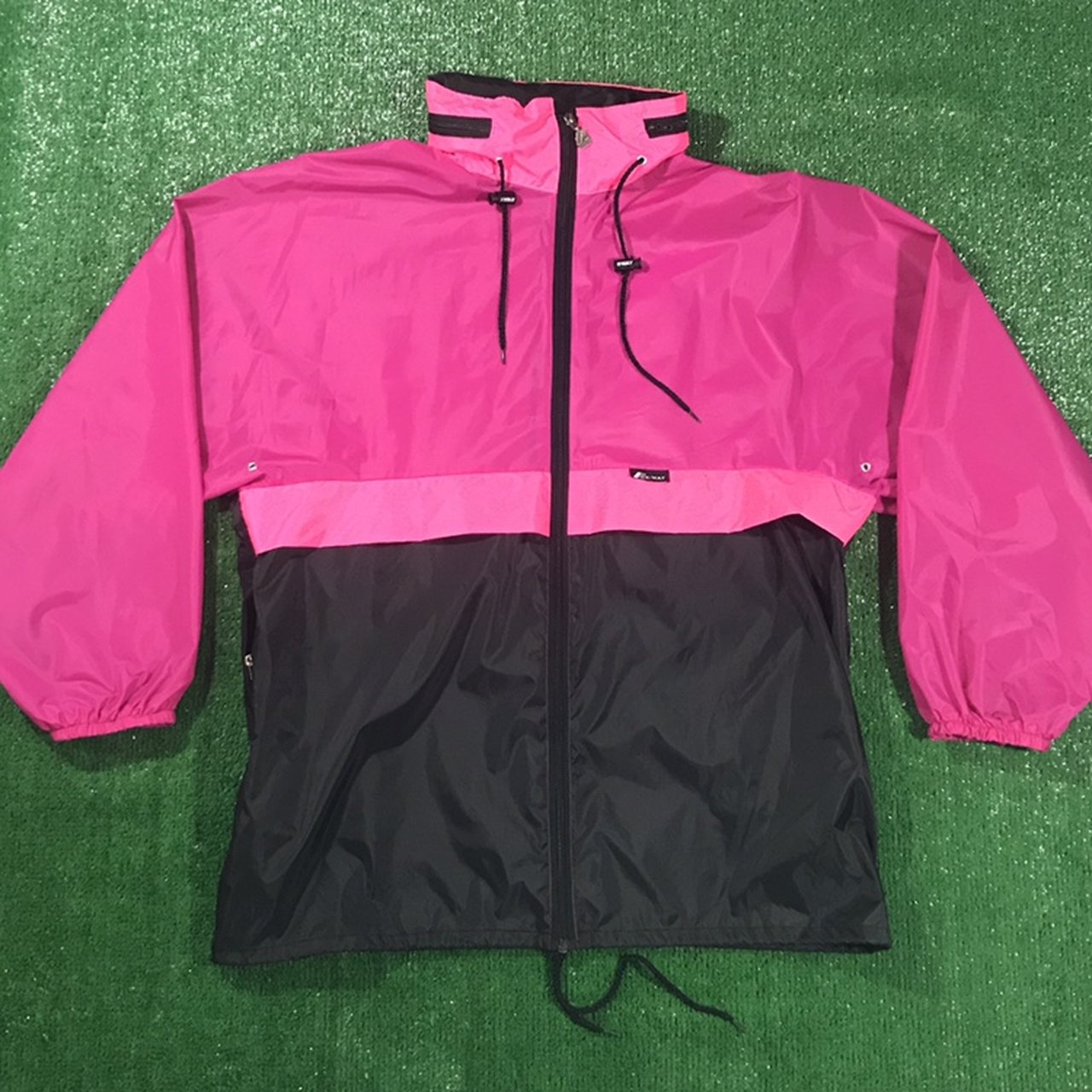 f82f34c7a647 Vintage 90s K-Way Colorblock Festival Rain Jacket. Item is a - Depop