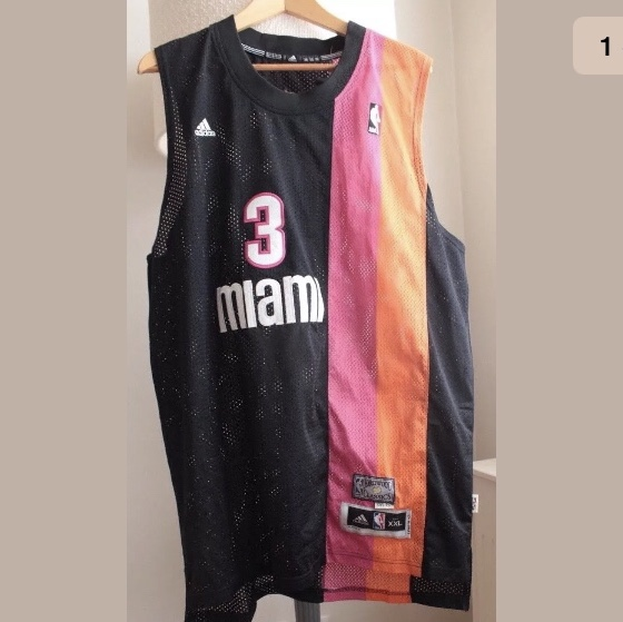 reputable site 3c3e3 ff6ab Rare Miami Heat #3 Dwyane Wade Floridians throwback ...