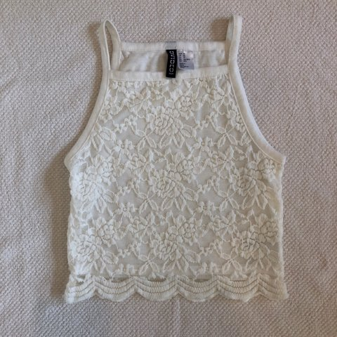 fdf4ece2a2b @sydneybhamilton. last month. Phoenix, United States. white lace divided crop  tank top! ...