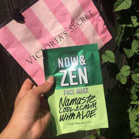 b9dd659781666 Victoria's Secret PINK NOW & ZEN tissue face mask... - Depop