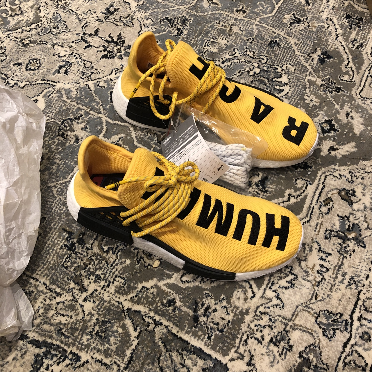 pretty nice 396b4 2a29c Pharell Human Race NmD OG Yellow Uk 7.5 US 8 StockX... - Depop
