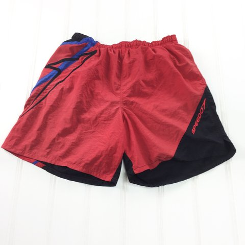 566f788e66 @flugette4. 10 months ago. Annandale, United States. Vintage 90s Mens L  Large SPEEDO Bathing Suit Beach Swimming Trunks ...