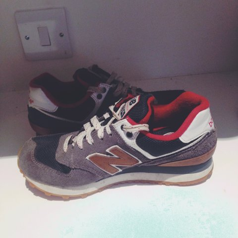 ab1c1846a New Balance 574 in absolutely great condition. Size 4 #size - Depop