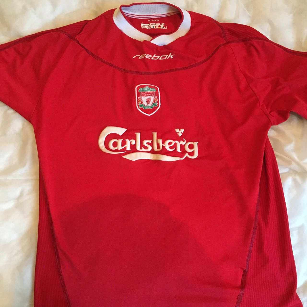 24a248d6bba Vintage Liverpool kit from 2002-2004. Liverpool won the cup - Depop