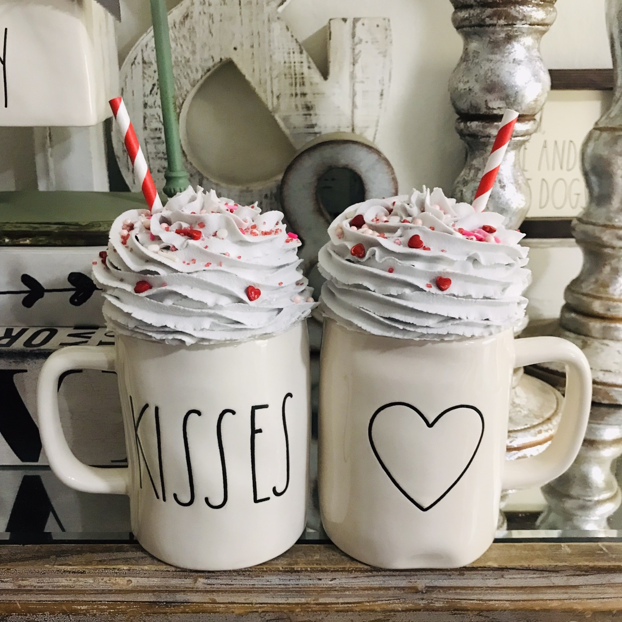 2 Fake Whipped Cream Mug Toppers With Real Sprinkles Depop