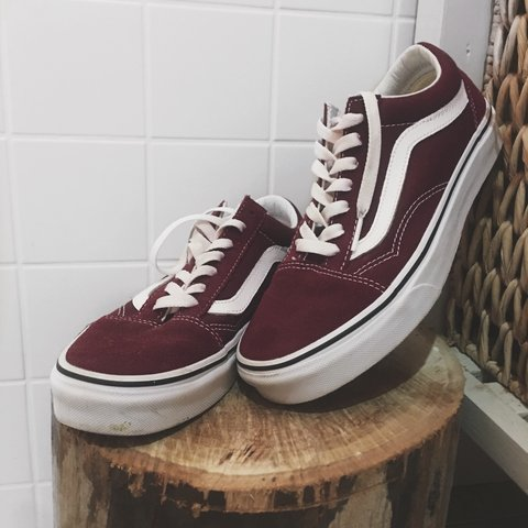 957a5f0875 🌟 Vans size US 7.5 - women s 🌟 • authentic maroon old • u - Depop