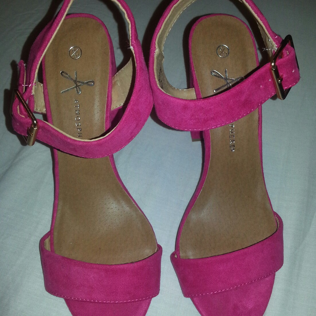 073ffa39768 Cerise pink sandals from Pennys with block heel.... - Depop