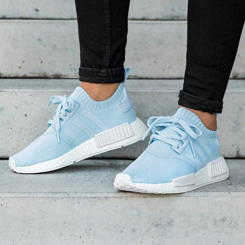6be13e9ede8ac Adidas NMD R1 Primeknit - ice blue Size 8 US women - Depop