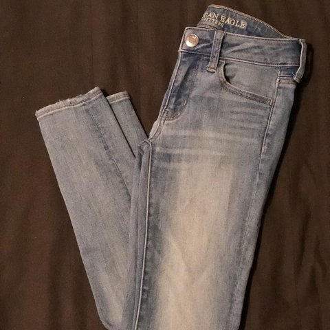 fe39def2bba  crescentmoods. 9 days ago. United States. New American Eagle super stretch  jeans 🔥 Only worn once. Great condition!
