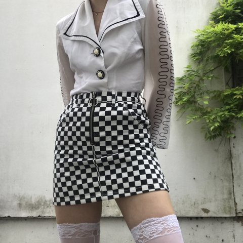 d819943800b0 @creaturefeatures. 11 months ago. West Wickham, United Kingdom. real unif O  ring skirt, black and white checkerboard ...