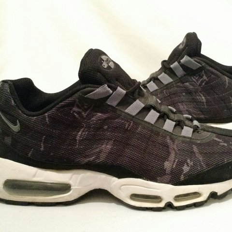 b1865edaa4 Nike Air Max 95 Premium Tape Camo Black White-Cool Date - Depop ...