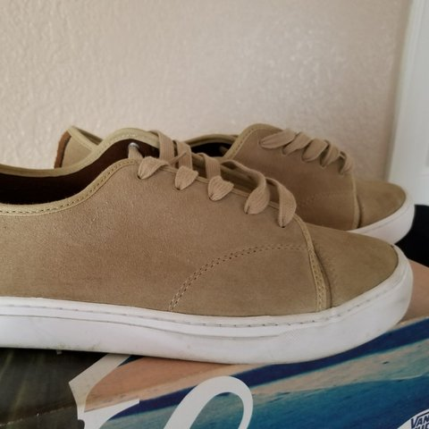 ebb96404c741 Very excellent condition khaki color suede vans - Depop