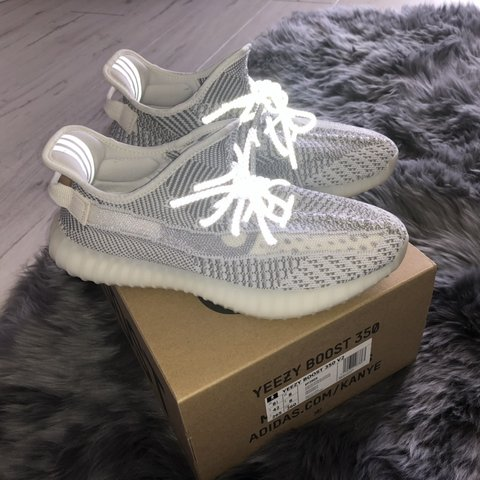 09b03c210 Yeezy Boost 350 V2 Static Worn once but in perfect (have a - Depop